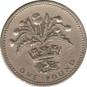 1984 CIRCULATED £1 Scottish Thistle