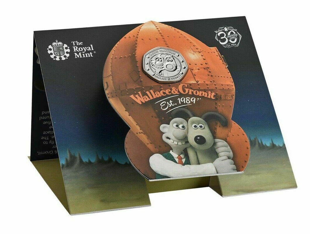 NEW 2019 Wallace and Gromit 50p Coin Royal Mint BU BUNC Pack Royal Mint