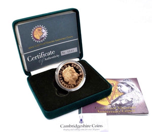 2001 Gold Proof £5 Crown Victorian Anniversary Royal Mint