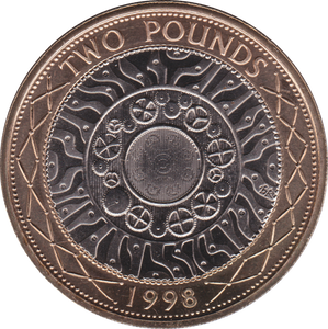 1998 TWO POUND BU £2 SHOULDERS GIANTS