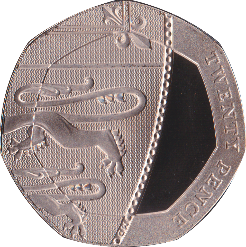 2020 20p Twenty Pence PROOF Coin Section of Shield