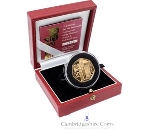 2003 Gold Proof 100th Anniversary Womens Union 50p Coin Box COA Bullion Gift