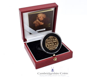 2005 Gold Proof Samuel Johnsons Dictionary 50p Coin Box COA Bullion Gift