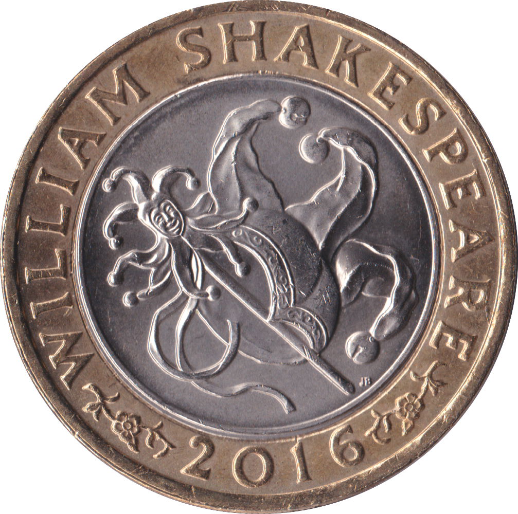 2016 £2 CIRCULATED SHAKESPEARE JESTER