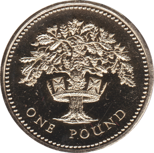 1987 ONE POUND BU £1 ENGLISH OAK