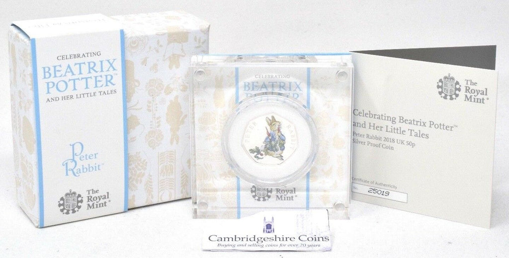 2018 New Beatrix Potter Peter Rabbit Silver Tales Silver Proof 50p BOX + COA