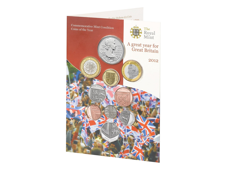 2012 BRILLIANT UNCIRCULATED GREAT YEAR GREAT BRITAIN COIN COLLECTION BU SET