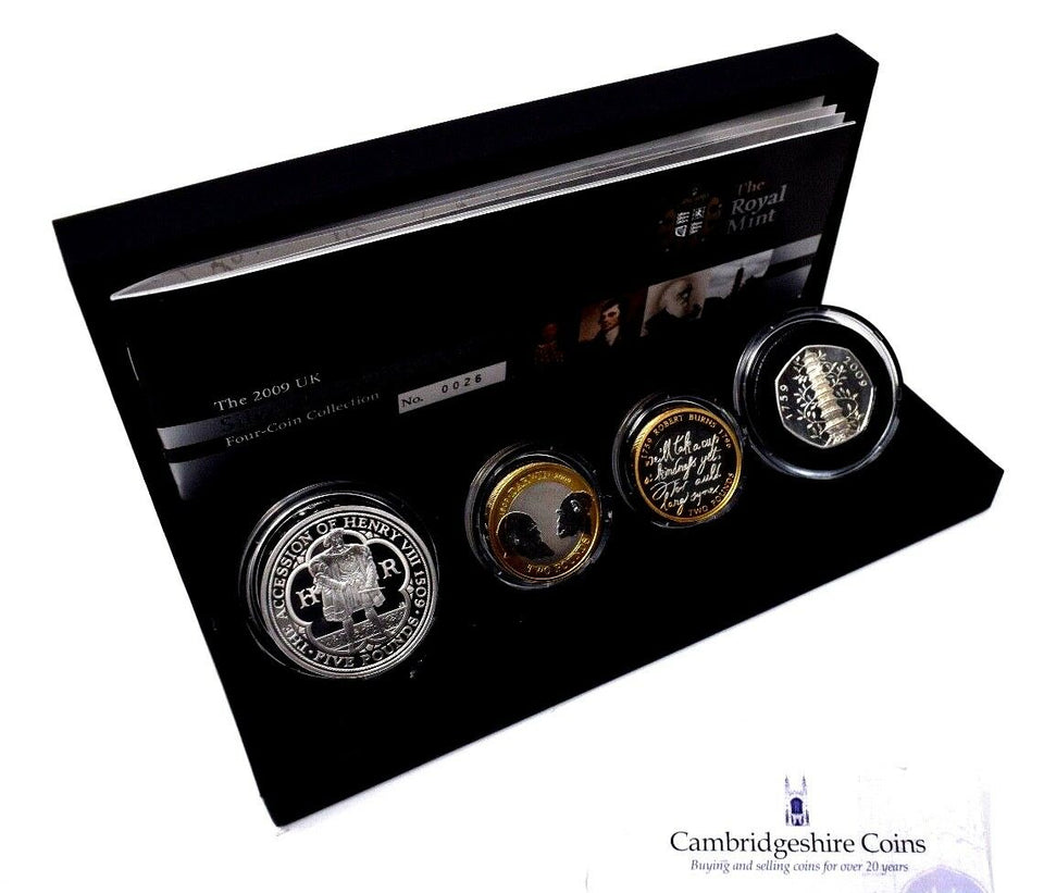 2009 Silver Proof Piedfort 4 Coin Set Kew Gardens 50p Box COA