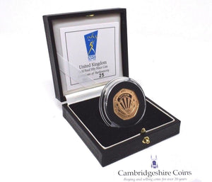 1998 Gold Proof 50p 50th Anniversary of The NHS Coin Box COA Bullion Rare