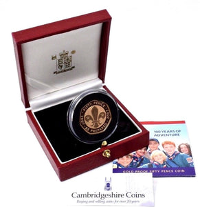 2007 Gold Proof Scouts Be Prepared 50p Coin Box COA Bullion Gift 0576 Royal Mint