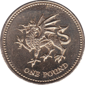 1995 CIRCULATED £1 Welsh Dragon