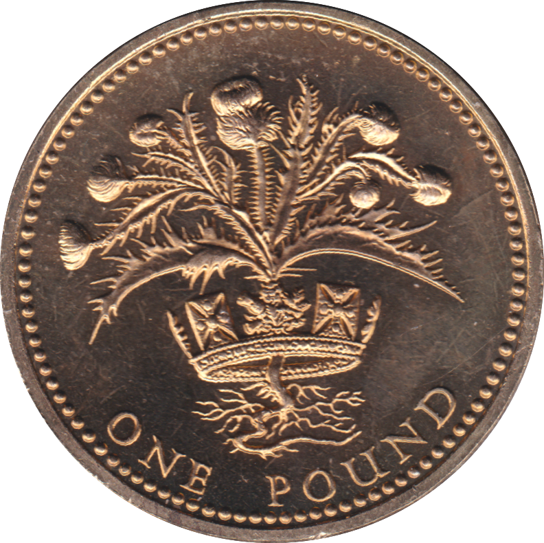1989 ONE POUND BU £1 SCOTTISH THISTLE