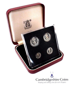 1989 Silver Proof Maundy Money Coin Set Birmingham Cathedral BOX