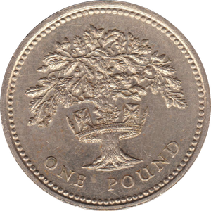 1992 CIRCULATED £1 ENGLISH Oak