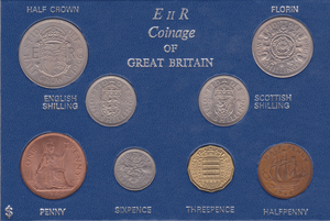 1966 Uncirculated 8 Coin Year Set Sealed British Elizabeth II UNC