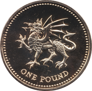 1995 ONE POUND BU £1 WELSH DRAGON