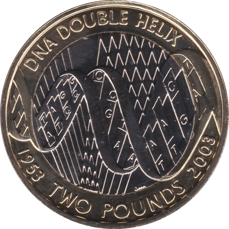 2003 TWO POUND BU £2 DNA HELIX