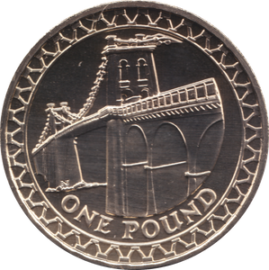 2005 ONE POUND BU £1 MENAI BRIDGE