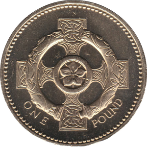 2001 CIRCULATED £1 Celtic Cross