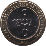2007 TWO POUND BU £2 ABOLITION SLAVE TRADE