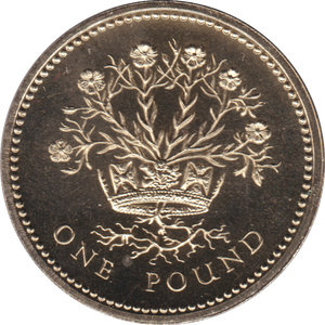 1986 ONE POUND BU £1 IRELAND FLAX