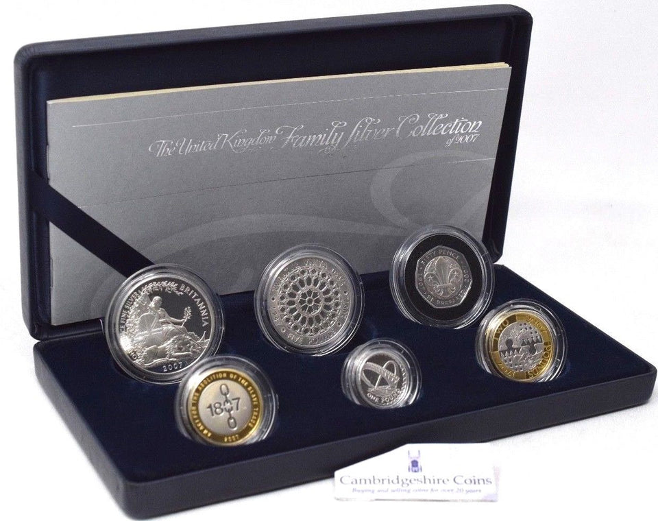 2007 Silver Proof Royal Mint Family Silver Coin Set Britannia £5 1807 £2 £1 50p