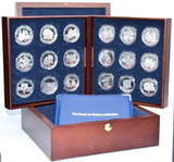 2005 Route To Victory Silver Proof Poppy 18x £5 Coin Collection Poppy Boxed