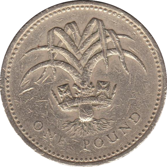 1985 CIRCULATED £1 Welsh Leek