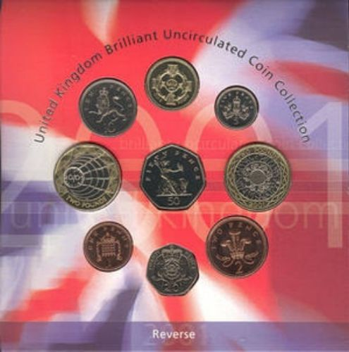 2001 BRILLIANT UNCIRCULATED COIN YEAR SET