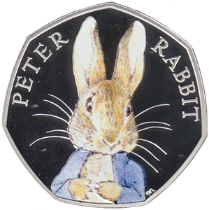 2016 Silver Proof Beatrix Potter Peter Rabbit 50p Coin Rare Box