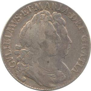 1692 HALFCROWN ( VF ) 8