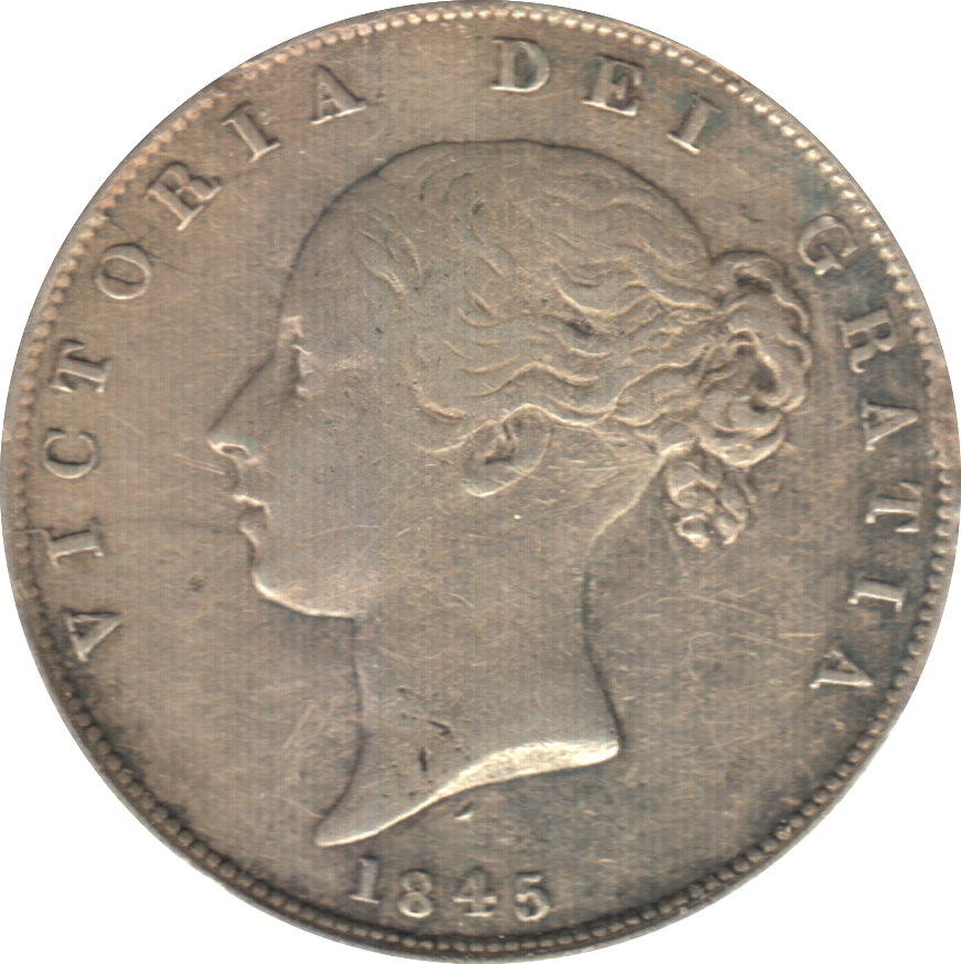 1845 HALFCROWN ( VF ) 7