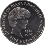 1999 BRILLIANT UNCIRCULATED PRINCESS DIANA £5 COIN BU