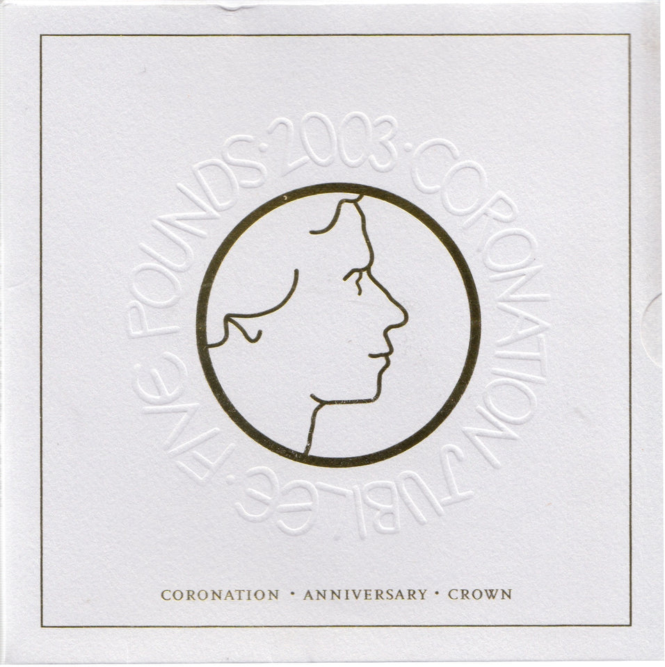2003 Brilliant Uncirculated £5 Coin Presentation Pack Coronation Anniversary