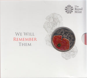 2012 Brilliant Uncirculated £5 Coin Presentation Pack We Will Remember Them