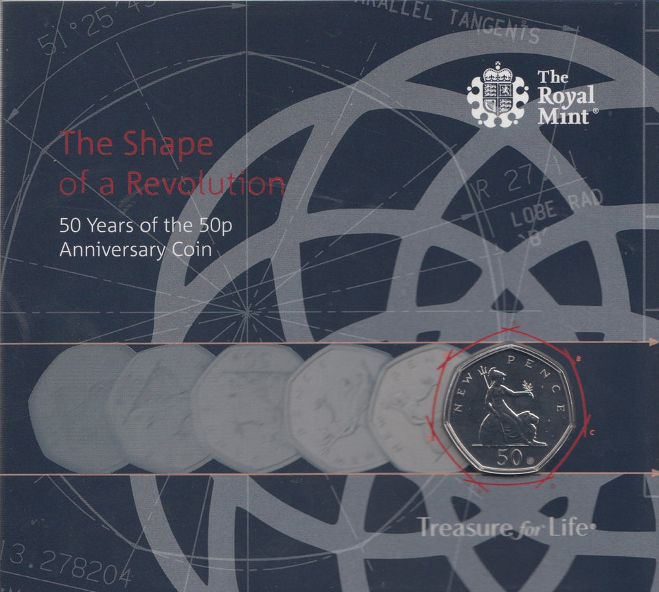 2019 Brilliant Uncirculated 50p The Shape Of A Revolution Pack Sealed BU