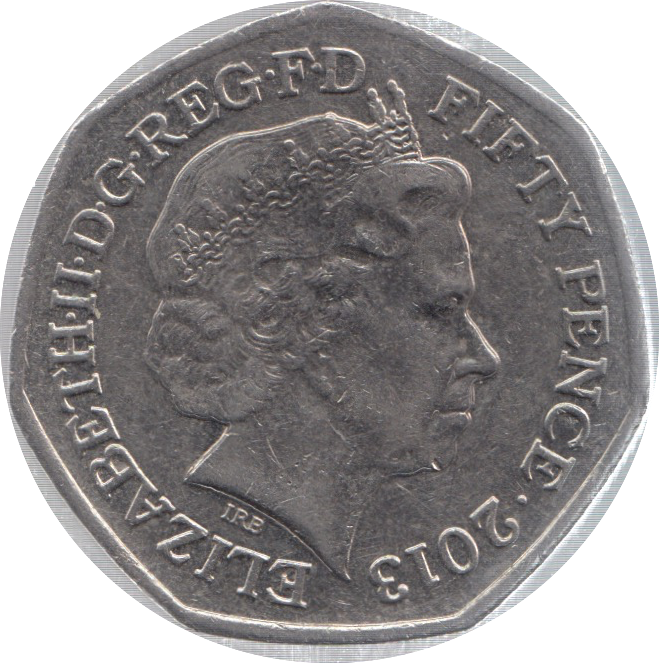 2013 CIRCULATED 50P BENJAMIN BRITTEN