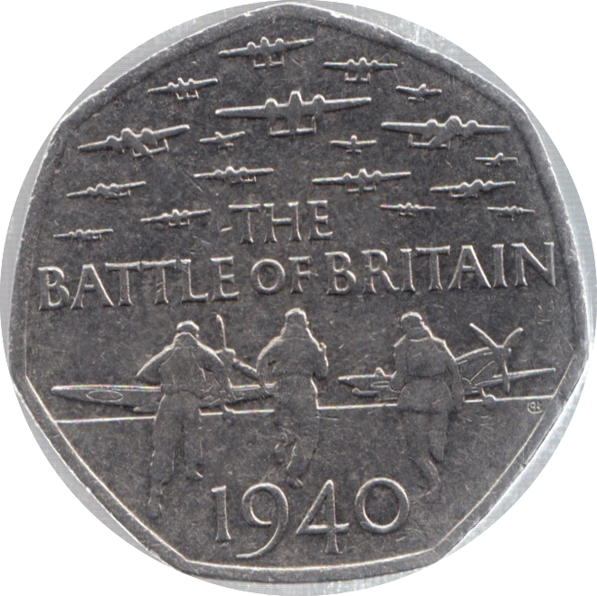 2015 CIRCULATED 50P BATTLE OF BRITAIN
