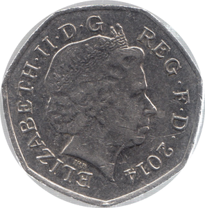 2014 CIRCULATED 50P SECTION OF SHIELD