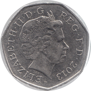 2013 CIRCULATED 50P SECTION OF SHIELD
