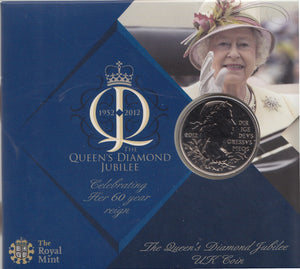 2012 Brilliant Uncirculated £5 Coin Presentation Pack Queens Diamond Jubilee