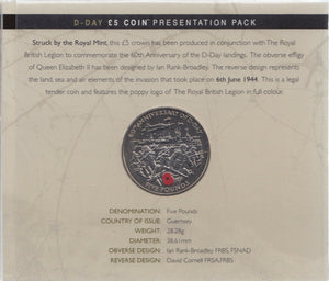 2004 Brilliant Uncirculated £5 Coin Presentation Pack D-Day