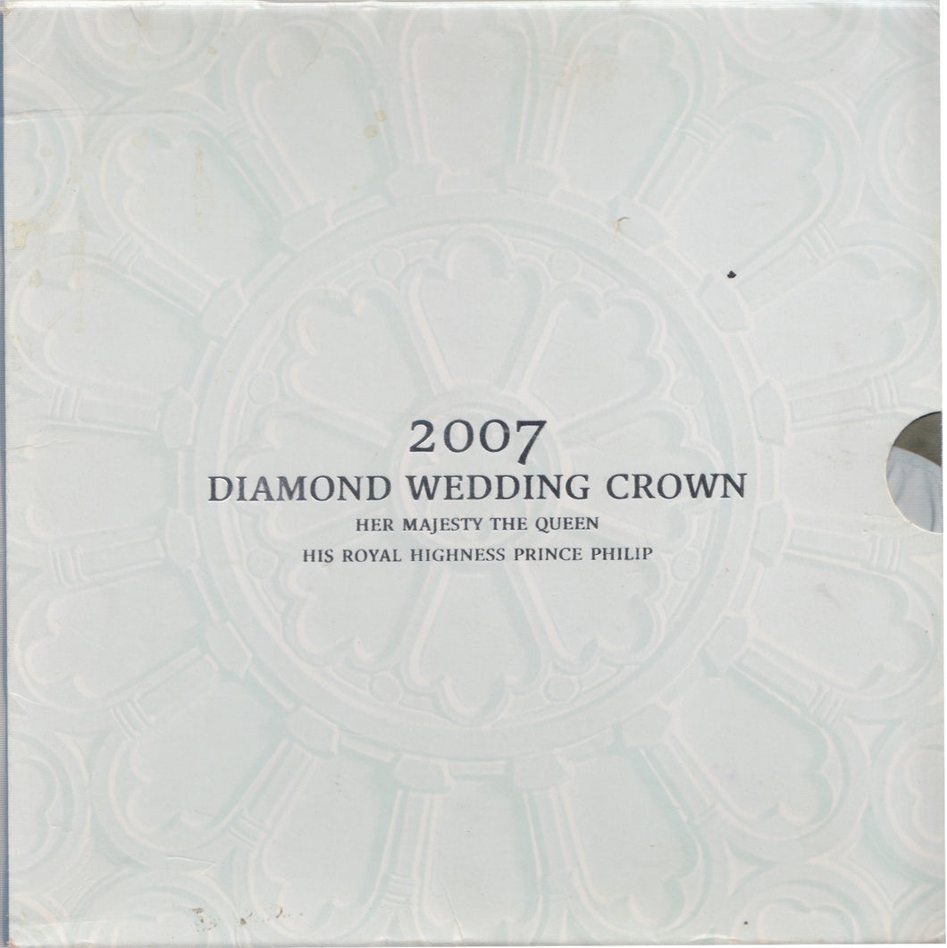 2007 Brilliant Uncirculated £5 Coin Presentation Pack Diamond Wedding