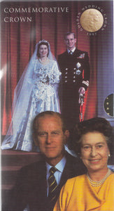 1997 Brilliant Uncirculated £5 Coin Presentation Pack Golden Wedding