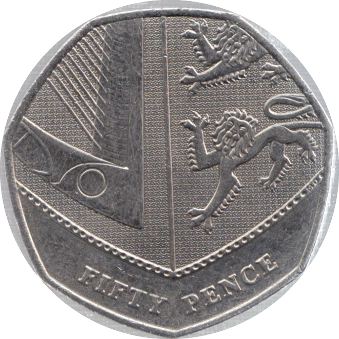 2012 CIRCULATED 50P SECTION OF SHIELD