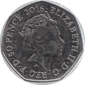2016 CIRCULATED 50P PETER RABBIT