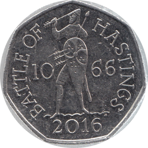 2016 CIRCULATED 50P BATTLE OF HASTINGS