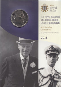 Brilliant Uncirculated £5 Coin Presentation Pack Prince Philip 90th Birthday