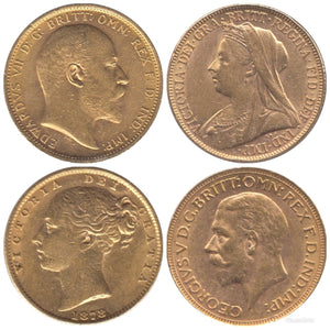 1  GOLD FULL SOVEREIGNS BULLION BEST BUY !!! 1870 - 2020
