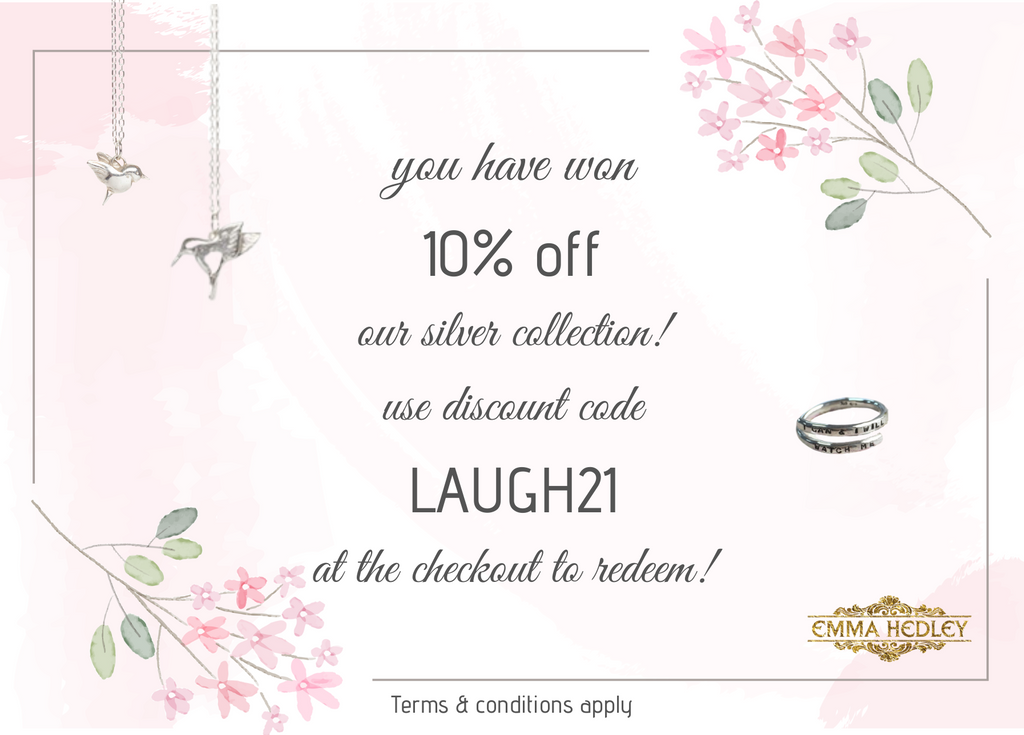 10% off voucher for silver items